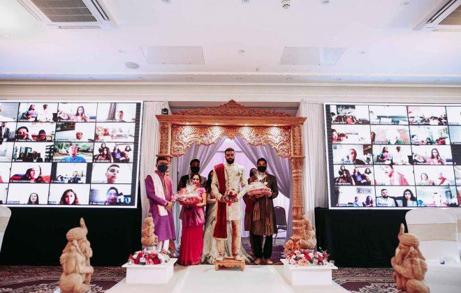 Lockdown Hindu wedding during at Shendish Manor hotel in Hemel Hempstead UK by Asian wedding photography shiv photo