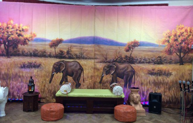 20ft Safari theme backdrop